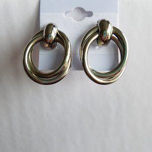 4/$20 Twisted Loop Silver Metal Earrings
